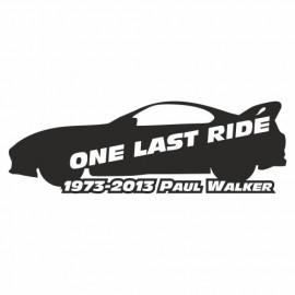 One last Ride Paul Walker Supra