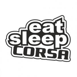 Eat sleep Corsa outline