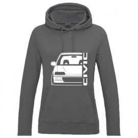 Honda Civic ED  Outline Modern Lady Hoodie