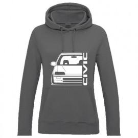 Honda Civic EC  Outline Modern Lady Hoodie