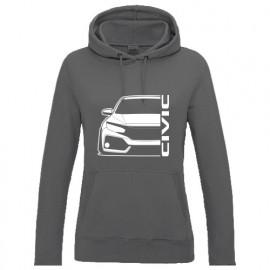 Honda Civic FK 2017-2018 Outline Modern Lady Hoodie