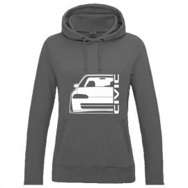 Honda Civic EG8 9 Sedan Outline Modern Lady Hoodie