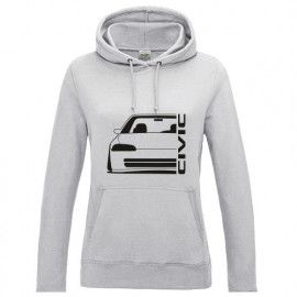 Honda Civic EG8 9 Sedan Outline Modern Lady Hoodie