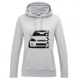 Honda Civic Ek Outline Modern Lady Hoodie