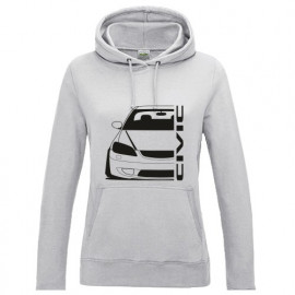 Honda Civic EM2 Facelift Outline Modern Lady Hoodie