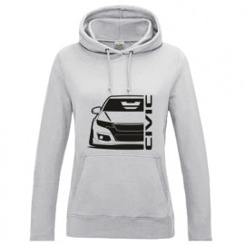 Honda Civic Type R 2015 Outline Modern Lady Hoodie