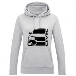 Honda Civic Type R 2017 Outline Modern Lady Hoodie