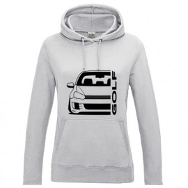 VW Golf 6 Typ 1K 2008-2013 GTI Outline Modern Hoodie Lady