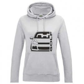 VW Golf 6 Typ 1K 2008-2013 R Outline Modern Hoodie Lady