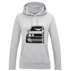 VW Golf MK2 Outline Modern Hoodie Lady