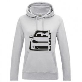 VW Golf MK6 Outline Modern Hoodie Lady