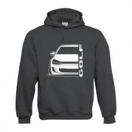 VW Golf MK7 Gti Outline Modern Hoodie