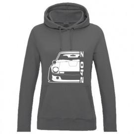Nissan Datsun 240Z Fairlady Outline Modern Hoodie Lady