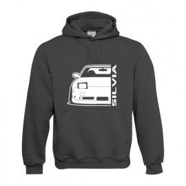 Nissan Silvia S13 240SX Outline Modern Hoodie