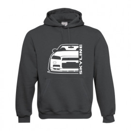 Nissan Skyline R34 GTR Outline Modern Hoodie