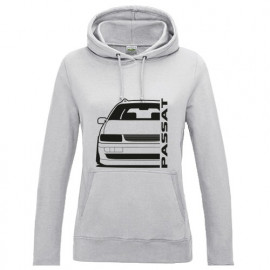 VW Passat 35i Facelift Outline Modern Hoodie Lady