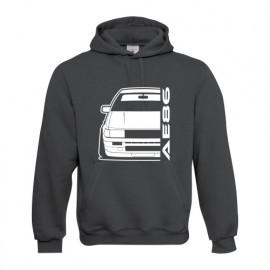 Toyota Corolla AE86 Outline modern Hoodie