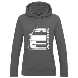 Toyota Corolla AE86 Outline modern Hoodie Lady