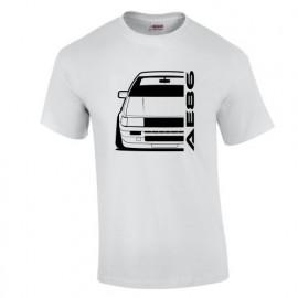 Toyota Corolla AE86 Outline modern T-Shirt