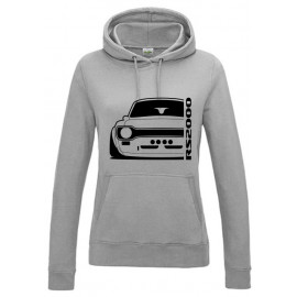 Ford Escort Mk1 RS2000-R Outline Modern Hoodie Lady
