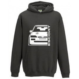 Ford Escort MK5 Cosworth Outline Modern Hoodie