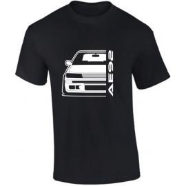 Toyota AE92 Gti Outline Modern T-Shirt