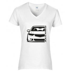 Honda Accord CW Tourer Outline Modern T-Shirt V Lady