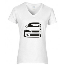 Honda Accord CG8  Outline Modern T-Shirt V-Neck Lady