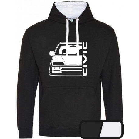 Honda Civic EC  Outline Modern Hoodie Varsity