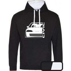 Honda Civic EG 8 9 Sedan Outline Modern Hoodie Varsity