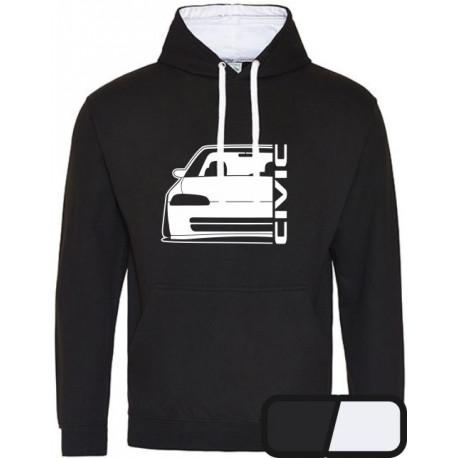 Honda Civic EG 8 9 Sedan Outline Modern Hoodie 2C Versity