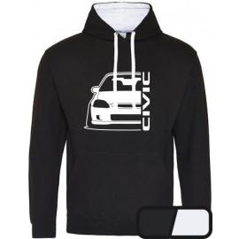 Honda Civic Ek Outline Modern Hoodie Varsity