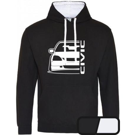 Honda Civic EP Outline Modern Hoodie Varsity