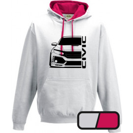 Honda Civic FK8 Type R Outline Modern Hoodie Varsity