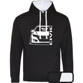 Honda Civic Type R 2015 Outline Modern Hoodie Varsity