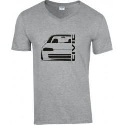 Honda Civic EG 8 9 Sedan Outline Modern V-Neck