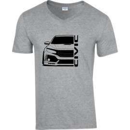 Honda Civic FK 8 Type R Outline Modern V-Neck