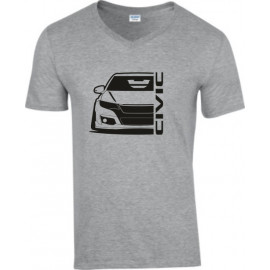 Honda Civic Type R 2015 Outline Modern V-Neck