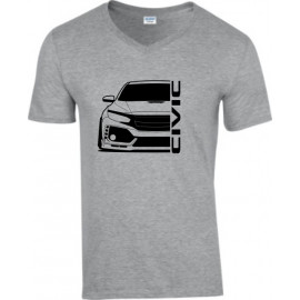 Honda Civic Type R 2017 outline V-Neck