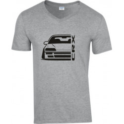 Honda Crx EE 8 Outline Modern V-Neck