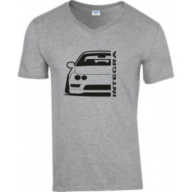 Honda Integra DC 2 EDM Outline Modern V-Neck