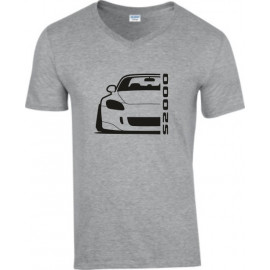 Honda S2000 S2k Outline Modern V-Neck