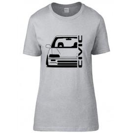 Honda Civic EC Outline Modern T-Shirt Lady