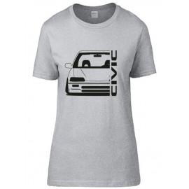 Honda Civic ED Outline Modern T-Shirt Lady