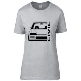 Honda Civic EE 9 Outline Modern T-Shirt Lady