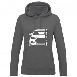 Hyundai Veloster 2019 N Outline Modern Hoodie Lady