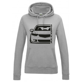 Honda Accord CW Tourer Outline Modern Lady Hoodie
