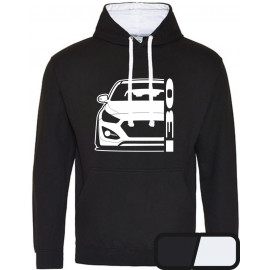 Hyundai I30 GD 2011-2017 Coupe Modern Outline Hoodie Varsity