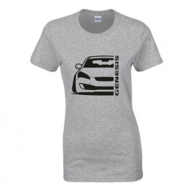 Hyundai Genesis Coupe Modern Outline Lady Shirt