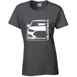 Hyundai Veloster 2019 N Outline Modern T-Shirt Lady